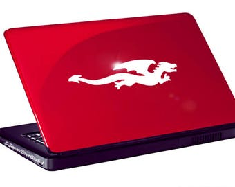 "Flying Dragon Vinyl Decal / Dragon Laptop Sticker / Flying Dragon Car Sticker / Dragon Window Decal / Dragon Sticker / 1.75""h x 7""w / #1050"