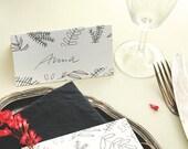 10x Place Cards | Wedding Place Cards | Place Cards Wedding | Floral Place Cards | Floral Wedding | Green Wedding | Black and white wedding