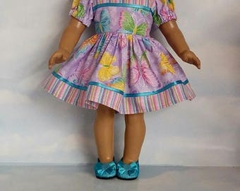 18 inch doll clothes - Purple Butterfly Dress made to fit the American Girl Doll - FREE SHIPPING