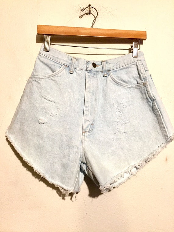 90s High Rise Distressed Denim Shorts
