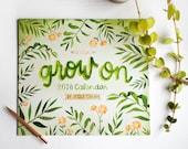 2018 Wall Calendar, Office Art Under 25, Encouragement Gift for Women Coworker, Housewarming Gift for Her Teen, Modern Hand Lettering