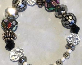 PEACE- Funky Chunky Inspirational bracelet