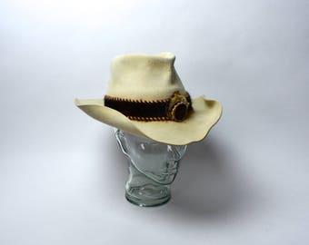 RARE Caspel Twid 10X Beaver Outlaw Country Cowboy Hat
