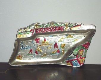 Vintage Souvenir State Metal Ashtray Tennessee