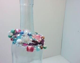 Unicorn Aura Layering Necklace Wrapped Bracelet Pastel Gothic Kawaii