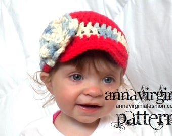 CROCHET PATTERN Baby Girl Newsie Hat - PDF Crochet Pattern