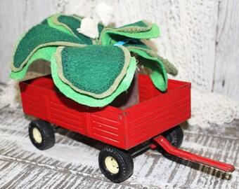 Vintage ERTL Red Wagon, Farm Toy, Collectible Wagon