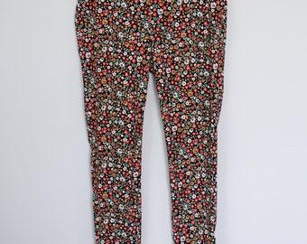 Vintage 90s Super Cute Kawaii Floral Print Funky Fresh Printed Party Pants