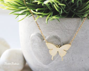 Butterfly Necklace in Silver/ Gold. Collar Bone Necklace. Birthday Gift. Mother's Day Gift. Everyday Wear. Gift For Her (PNL-122)