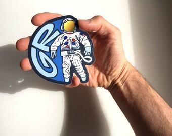 "Grand Rapids Spaceman Sticker - 4"""