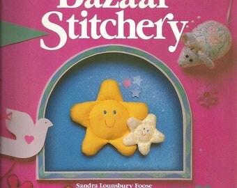 Vintage Scrap Saver's Bazaar Stitchery Book by Sandra Lounsbury Foose