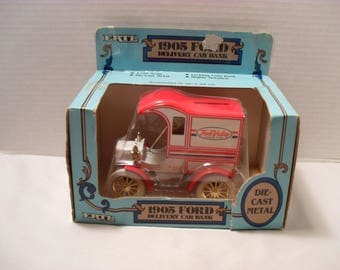 Ertl 1905 Delivery Car Ford True Value 1987 Edition Diecast Coin Bank Unopened Original Box Collectible