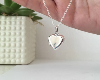 Heart Locket - sterling silver, mothers day gift, heirloom locket, silver heart locket, photo locket, mother, wedding