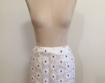 90's Vintage Daisy Mesh Mini Skirt - Size Small - Made in USA - Clueless