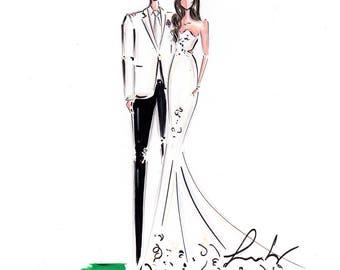 Custom Wedding Portrait, Custom Couple Portrait , Portraiture, Custom portrait, Wedding Portrait, Couple Portrait