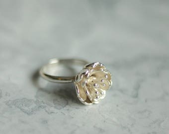 Silver blossom flower ring, blossom ring, flower ring, floral jewellery
