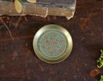 Mini Brass Plate, Tiny detail, Renaissance Art