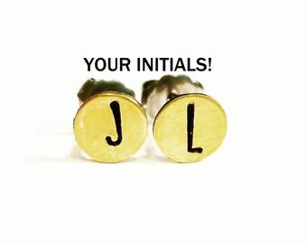 Initial Earrings, Choose your letters, Custom Personalized Earrings