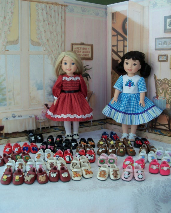 Wellie Wisher® Size Shoes / Custom Made to your Specs/ Doll Accessories for American Girl Wellie Wishers® or Hearts4Hearts