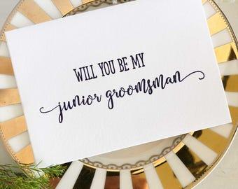 Junior Groomsman, Asking Groomsmen, Junior Groomsmen, Proposal Card, Will You Be My Groomsmen, Ask Groomsman, Junior Groomsmen Gift, Navy