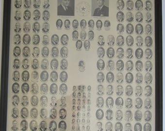 1941 Texas House of Representatives Composite Photograph - 47th Legislature Members and Children - Vintage 18 x 22 Black Wood Frame