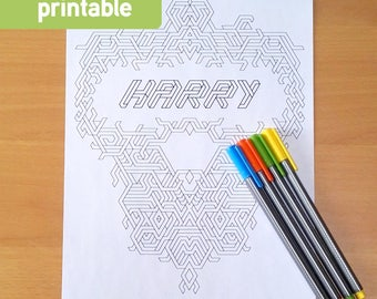 Customised colouring page