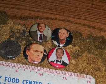 NEIL PATRICK HARRIS 4 one inch pin back buttons badge set