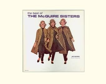 Best of the McGuire Sistes, 2 Record Gatefold Album Female vocal Trio MCA Records Phyllis McGuire Midcentury Pop Music Vintage Vinyl