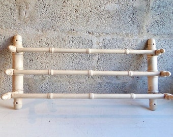 French Vintage  Faux Bamboo BathroomTowel Rack