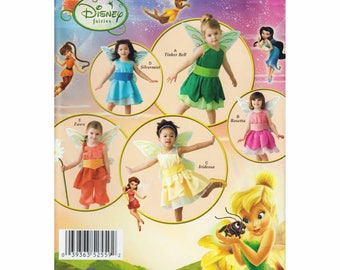 """Baby and Toddler Disney Fairy Costume Sewing Pattern Tinkerbell Dress Panties Wings Size 6 mo to 4 Yrs Chest 19-23"""" Simplicity 2559"""
