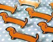 Dachshund enamel pin 3.5cm - dog wiener dog sausage dog lapel pin brooch badge flair collar pin hat pin nature animal