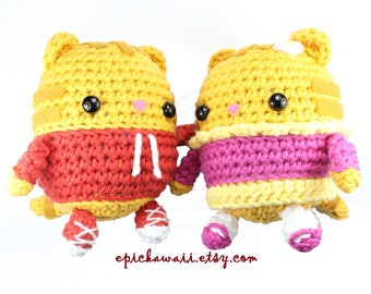 PATTERN 2-PACK: Daniel Tiger and Margaret Crochet Amigurumi Dolls