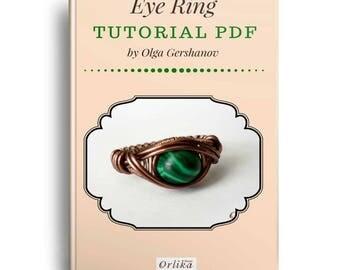 Jewelry tutorial - Wire wrap Tutorial - Eye Ring - Wire Wrap Tutorial - Wire wrap ring - Eye ring tutorial - jewelry making - ring tutorial