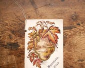 Antique Wyandotte Club Dance Card with Fall Foliage Graphics - Beautifully Detailed Ephemera