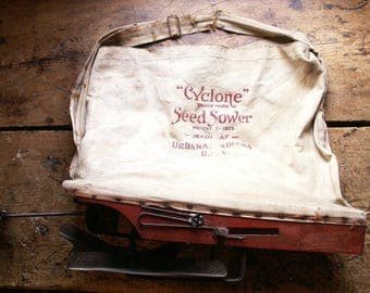 Vintage Cyclone Seed Sower - Great Rustic Farmhouse Decor - Patent date 1925
