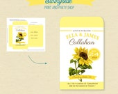 Printable SUNFLOWER Seed Packet Favor  - DIY favor for shower or wedding, personalized favor, sunflower wedding