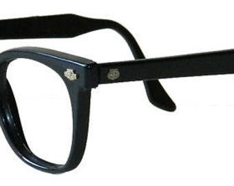 Mens Vintage 1960s Black Eyeglass Frames Never Used