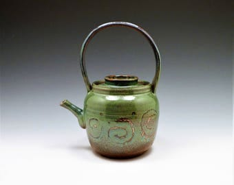 Green Teapot with a Hat