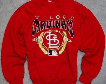 1990s Cardinals Sweatshirt 1993 St. Louis Cardinals Baseball Missouri Vintage Fleece Size XL 7NN