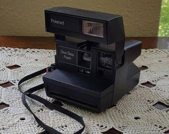 Polaroid One Step Flash Vintage Instant 600 Film Land Camera
