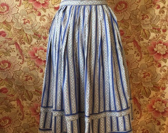 Vintage 50s French Cotton Skirt