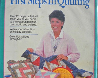 First Steps in Quilting Book, by Leslie Linsley, Vintage 1986