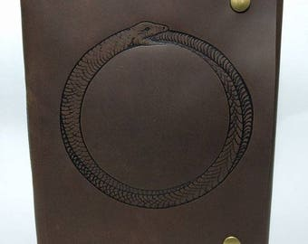Ouroboros Leather Journal / Sketchbook / Notebook