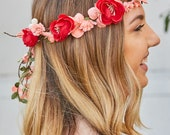 Peony Bride Tropical Flower Crowns - Lots of Colors | Floral headbands for bride | Flower crowns