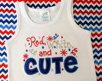 Patriotic shirt- Fourth of July shirt, July 4th, Red, white, and cute, Independence Day shirt