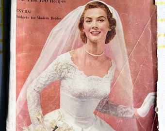 Vintage 1950s Bridal Magazine American Modern Bride Winter 1955 - 1956 Stunning Fifties Weddings Fashion Beauty Advertisements RARE