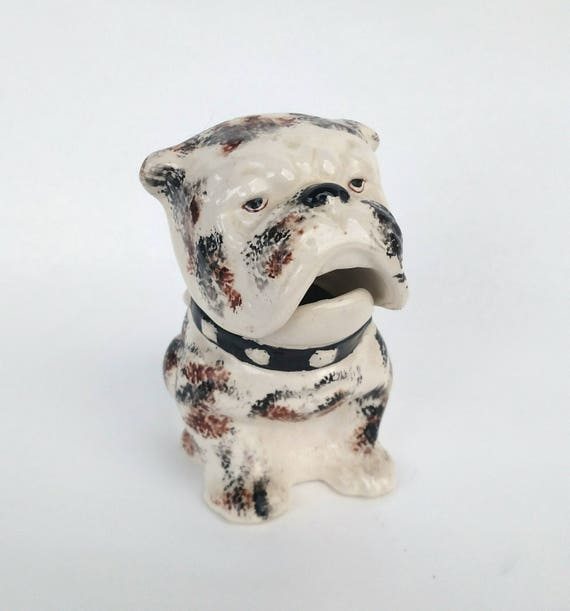 Vintage Ceramic Bull Dog Jar