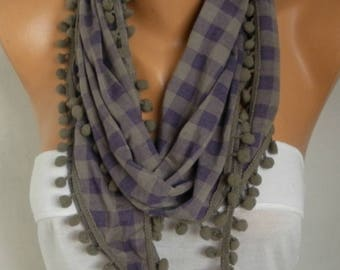 Valentine's Day Gift,Pötikare Pompom Scarf,Bohemian Shawl,Clothing gift, Gift Ideas For Her,Women Fashion Accesssories