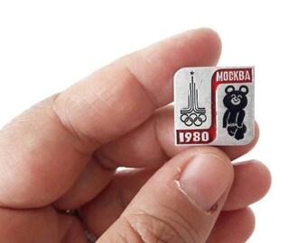 Vintage Mischa Olympics Mascot Brooch 1980