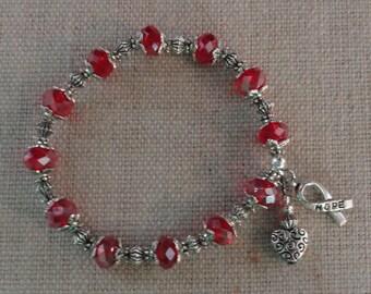 047 Heart Disease/Stroke Awareness Bracelet